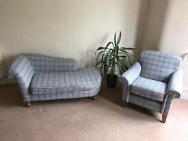 Brand New Schreiber Accent Armchair and Chaise Lounge