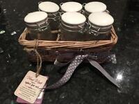 Brandnew spice jar set with basket