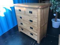 "Oak furniture land ""original rustic"" chest of drawers"