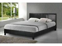 🔵💖🔴FAUX LEATHER BED WITH MATTRESS AVAILABLE IN SINGLE,DOUBLE/KING SIZE