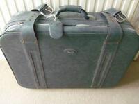 """Vintage Airborne leather suitcase L28"""" W20"""" D9"""" - wedding theatre shop window prop decoration"""