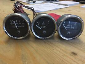 60's - 70's ALFA ROMEO GUILIETTA 1500 1.5 WATER FUEL OIL GUAGES CLOCKS