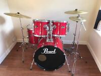 Wokingham Drum Sales - Stunning Pearl Export Drum Kit - All Hardware, Sabian Cymbals, Outstanding !