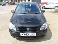 2004 HYUNDAI GETZ PETROL MANUAL 1.3 5 DOOR BLACK