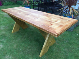 Hand-made dining table
