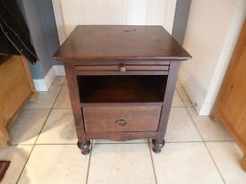 Marks and Spencer dark wooden bedside table/unit with drawer, side/lamp tabe