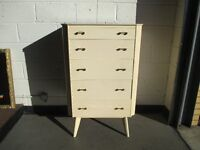 VINTAGE HOMEWORTHY FIVE 5 DRAWER CHEST OF DRAWERS FREE DELIVERY