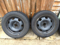 "Citroen Winter Wheel & Tyre Package – 16"" Steel Rims & 215/55 Matador Tyres Fitted"