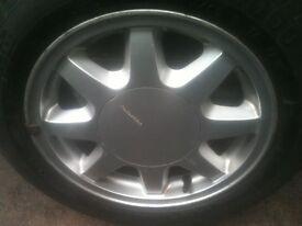 """^^^ Vw Mk2 Golf Alloys Fondmetal 14"""" 7 Spoke Wheels ^^^ £80"""