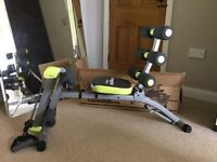 Wonder Core II workout Bench--Assembed but never used. Pristine condition. Comes with box & manual.
