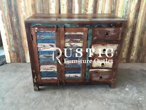 """Meuble vanité en bois recyclé / commode / meuble TV -- Solid wood 42"""" vanity"""