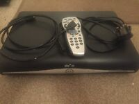 Sky + HD box with remote, power cable and HDMI cable