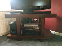 Solid sheesham wood tv/media unit
