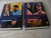 2 LARGE PRINT MILLS & BOON MODERN BOOKS