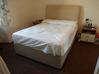 Double Divan Base with 2 Drawers (Oatmeal Colour) (Headboard also available)