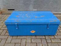 Vintage Metal Trunk/ Chest Blue
