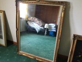 Large gilt framed mirror