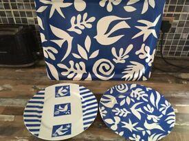 2 Vintage Ikea Decorative Plates with Tray