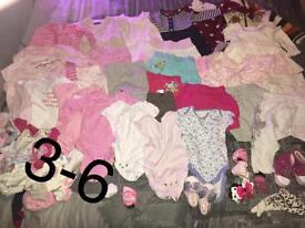 3-6, 12-18, 18-24 month girls clothes