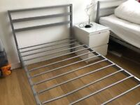 2x grey metal beds for sale