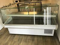 Deli counter with internal fridge