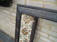 Old Victorian Tiled Surround, One tile Cracked