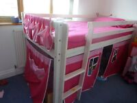 Child Mid-sleeper bed with storage/ child table/ child bench and drawers