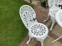 Aluminium garden table and 4 chairs