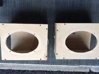 Pair of MDF 6x9 car speaker enclosure boxes