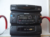 Sharp Micro-stereo and 3 CD player