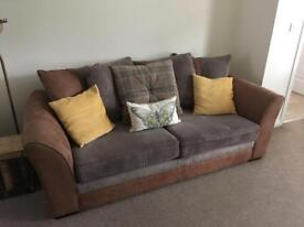 3 and 2 seater sofas plus footrest for sale