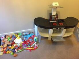 Kids Toy Kitchen (ex-Smyths) with Abundance of Assorted Accessories