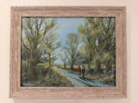 ORIGINAL OIL PAINTING - SIGNS OF SPRING - SIGNED BY ARTIST AND FRAMED