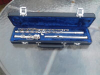Gemeinhardt silver plated flute 2ESP S/E inc case - musical instrument