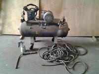 Compressor, & hoses ,spray gun ,tyre gauge included.