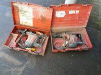 2 x Hilti TE74 Combi-Hammer breakers 110V