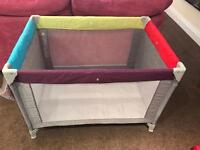 NEVER USED Mothercare Colour Block Travel Cot