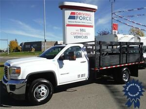 2015 GMC Sierra 3500HD-Reg.Cab-Dually-12ft Deck-4x4-12,995km