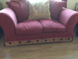 2 seater couch and foot stool