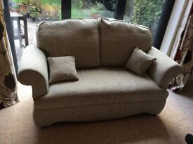 Nearly new 2 seater sofa made in GB by HSL: AskriggDrop Arm Sofa Boucle Fennel