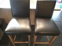 Leather & Oak bar stools