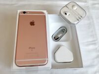 Apple iPhone 6S 64GB Rose Gold brand-new in box factory unlocked with proof of receipt warranty