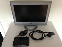 """Proline 17"""" colour TV plus Dion digital set top freeview box"""