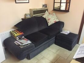 Parker Knoll sofa and foot stool