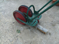 Hand operated garden rotovator/tiller.....unusual item.