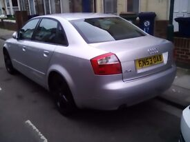 Audi a4 2.0fsi,sport silver,excellant condition for year 53 reg,127000 miles,just spent £300 on car