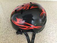 Cycle Helmet in Black & Red