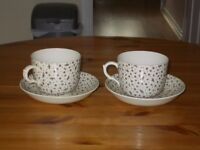 Johnson Brothers Millie Fleur soup / large cups Brown