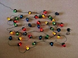 40 Lantern Shaped Static Christmas Tree Lights Green Red Blue Yellow Xmas Decorations
