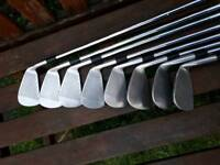 Left hand MIZUNO T ZOID OVERSIZE VX IRONS 3-pw no 7 iron steel shafts REG flex MIZUNO grips